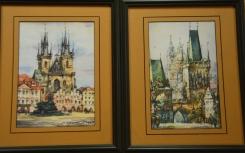 2 of trilogy Prague watercolors