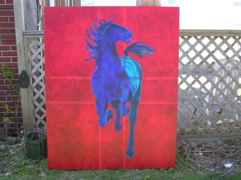 Angry Horse by Jephcott acrylic, 48x60 2500$