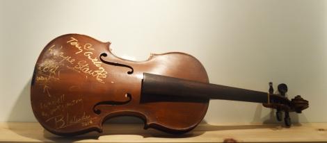 antique violin signed