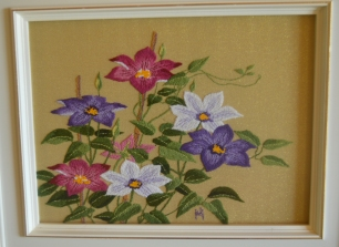 floral needlpoint framed