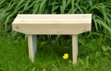 sturdy handmade cedar bench