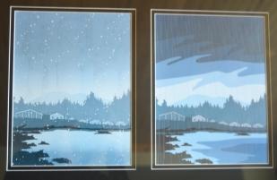 watercolors west coast theme